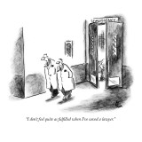 """I don't feel quite as fulfilled when I've saved a lawyer."" - New Yorker Cartoon Premium Giclee Print by Frank Cotham"