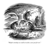 """Maybe someday we could set aside a cave just for art."" - New Yorker Cartoon Premium Giclee Print by Frank Cotham"