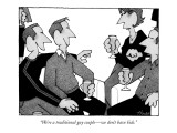 """We're a traditional gay couple—we don't have kids."" - New Yorker Cartoon Premium Giclee Print by William Haefeli"