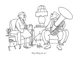 """""""Play 'Misty' for me."""" - New Yorker Cartoon Premium Giclee Print by George Price"""