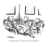 """I think, gentlemen, it's time to plan the annual picnic."" - New Yorker Cartoon Premium Giclee Print by Henry Martin"