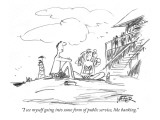 """I see myself going into some form of public service, like banking."" - New Yorker Cartoon Premium Giclee Print by Robert Weber"