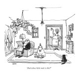 """And whose little mole is this?"" - New Yorker Cartoon Premium Giclee Print by George Booth"