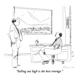"""Selling out high is the best revenge."" - New Yorker Cartoon Premium Giclee Print by Richard Cline"