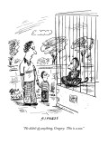"""He didn't do anything, Gregory. This is a zoo."" - New Yorker Cartoon Premium Giclee Print by David Sipress"