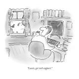 """""""Lassie, get tech support."""" - New Yorker Cartoon Premium Giclee Print by Arnie Levin"""