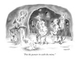 """""""Put the punster in with the mime."""" - New Yorker Cartoon Premium Giclee Print by Pat Byrnes"""