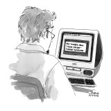 Man receives E-mail from girlfriend;  'Not tonight, dear. I have carpal-tu… - New Yorker Cartoon Premium Giclee Print by Marisa Acocella Marchetto