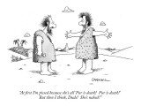 """At first I'm pissed because she's all 'Fur is death!  Fur is death!'  But…"" - New Yorker Cartoon Premium Giclee Print by John Caldwell"