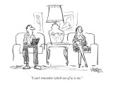 """""""I can't remember which one of us is me."""" - New Yorker Cartoon Premium Giclee Print by Robert Weber"""
