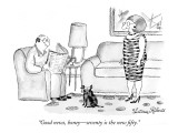 """Good news, honey—seventy is the new fifty."" - New Yorker Cartoon Premium Giclee Print by Victoria Roberts"
