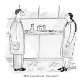 """We're in our lab coats.  Now what?"" - New Yorker Cartoon Premium Giclee Print by Victoria Roberts"