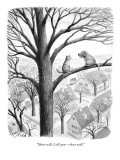 """Sheer will, I tell you—sheer will."" - New Yorker Cartoon Premium Giclee Print by Harry Bliss"