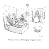 """Heavens, Henry, we're only going away for two days."" - New Yorker Cartoon Premium Giclee Print by Zachary Kanin"