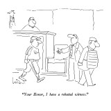 """Your Honor, I have a rebuttal witness."" - New Yorker Cartoon Premium Giclee Print by Arnie Levin"