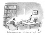 """Unfortunately, there's no cure—there's not even a race for a cure."" - New Yorker Cartoon Premium Giclee Print by Frank Cotham"