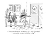 """Listen up, my fine people, and I'll sing you a song, 'bout a brave neuros…"" - New Yorker Cartoon Premium Giclee Print by Danny Shanahan"