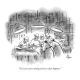 """Let's just start cutting and see what happens."" - New Yorker Cartoon Premium Giclee Print by Frank Cotham"