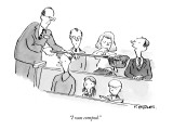 """""""I was comped."""" - New Yorker Cartoon Premium Giclee Print by Pat Byrnes"""