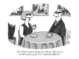 """No, I don't want to change you, Darryl.  But sure, it would be great if y…"" - New Yorker Cartoon Premium Giclee Print by J.C. Duffy"