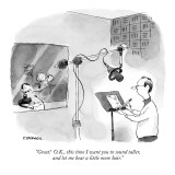"""""""Great!  O.K., this time I want you to sound taller, and let me hear a lit…"""" - New Yorker Cartoon Premium Giclee Print by Pat Byrnes"""
