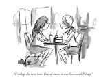 """A village did raise him.  But, of course, it was Greenwich Village."" - New Yorker Cartoon Premium Giclee Print by Warren Miller"