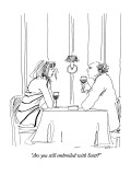 """Are you still embroiled with Scott?"" - New Yorker Cartoon Premium Giclee Print by Richard Cline"