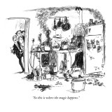 &quot;So this is where the magic happens.&quot; - New Yorker Cartoon Premium Giclee Print by Robert Weber