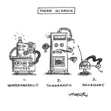 Three Gismos - New Yorker Cartoon Premium Giclee Print by Henry Martin