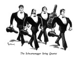 The Schwarzenegger String Quartet - New Yorker Cartoon Premium Giclee Print by Eldon Dedini