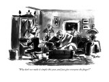 """Why don't we make it simple this year, and just give everyone the finger?…"" - New Yorker Cartoon Premium Giclee Print by Lee Lorenz"