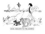 DOG WALKER TO THE STARS - New Yorker Cartoon Premium Giclee Print by Edward Frascino