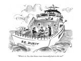 """What is it, Ira, that draws man inexorably back to the sea?"" - New Yorker Cartoon Premium Giclee Print by Lee Lorenz"