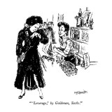 """ 'Leverage,' by Goldman, Sachs."" - New Yorker Cartoon Premium Giclee Print by William Hamilton"