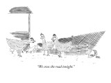 """We cross the road tonight."" - New Yorker Cartoon Premium Giclee Print by Jonny Cohen"