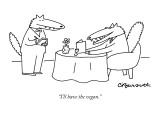 """I'll have the vegan."" - New Yorker Cartoon Premium Giclee Print by Charles Barsotti"