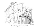 """You're kidding!  You count S.A.T.s?"" - New Yorker Cartoon Premium Giclee Print by Mike Twohy"