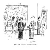 """I live in the Brooklyn arrondissement."" - New Yorker Cartoon Premium Giclee Print by David Sipress"