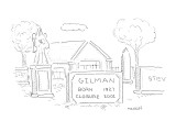 Inscription on headstone reads, 'Gilman: Born 1927, Closure 2001.' - New Yorker Cartoon Premium Giclee Print by Robert Mankoff