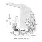 """""""Hmm, what would Satan do?"""" - New Yorker Cartoon Premium Giclee Print by Pat Byrnes"""