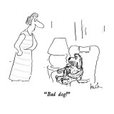 """Bad dog!"" - New Yorker Cartoon Premium Giclee Print by Arnie Levin"