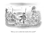 """Have ye seen a whale that matches this swatch?"" - New Yorker Cartoon Premium Giclee Print by Arnie Levin"
