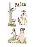 Pairs' - New Yorker Cartoon Premium Giclee Print by William Steig