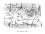 """""""Well, we got the grant."""" - New Yorker Cartoon Premium Giclee Print by Arnie Levin"""
