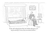 """Look, call it denial if you like, but I think what goes on in my personal…"" - New Yorker Cartoon Premium Giclee Print by Robert Mankoff"