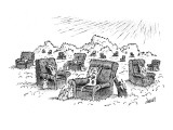 Cat angels claw at armchairs in heaven. - New Yorker Cartoon Premium Giclee Print by Tom Cheney