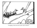 """Truthfully, I like them better before they're hatched."" - New Yorker Cartoon Premium Giclee Print by Bruce Eric Kaplan"