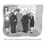 """This is my wife—the founder and executive director of our marriage."" - New Yorker Cartoon Premium Giclee Print by Peter C. Vey"