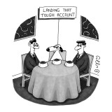 Landing That Tough Account - New Yorker Cartoon Premium Giclee Print by J.C. Duffy
