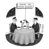 Landing That Tough Account - New Yorker Cartoon Premium Giclee Print by J.C. Duffy